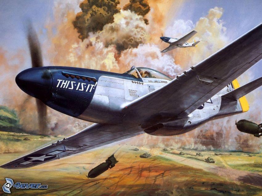 aviones, explosión