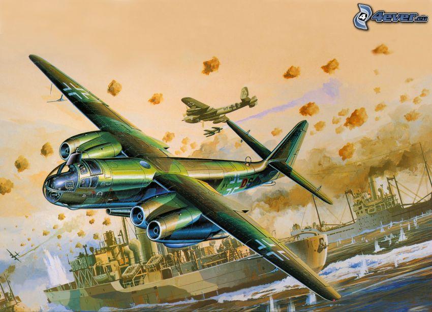 aviones, naves