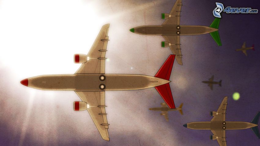 aviones, sol