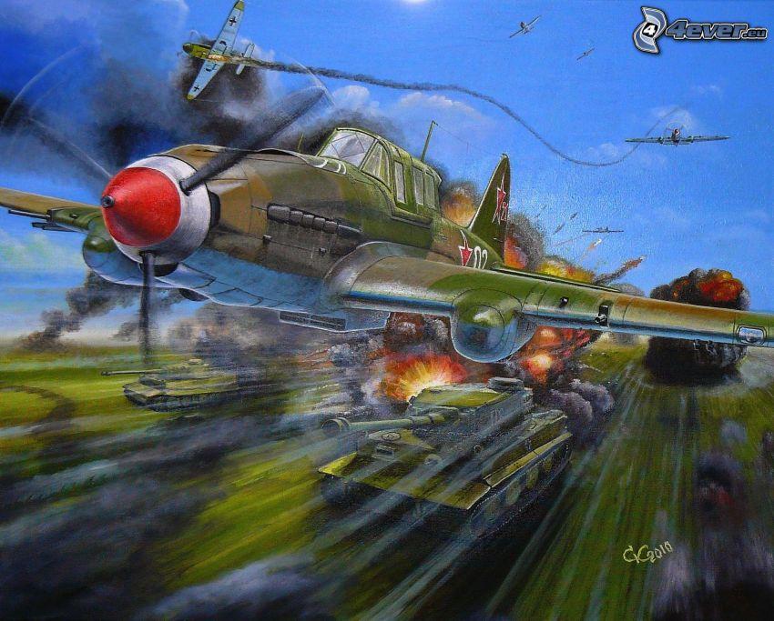 aviones, tanques