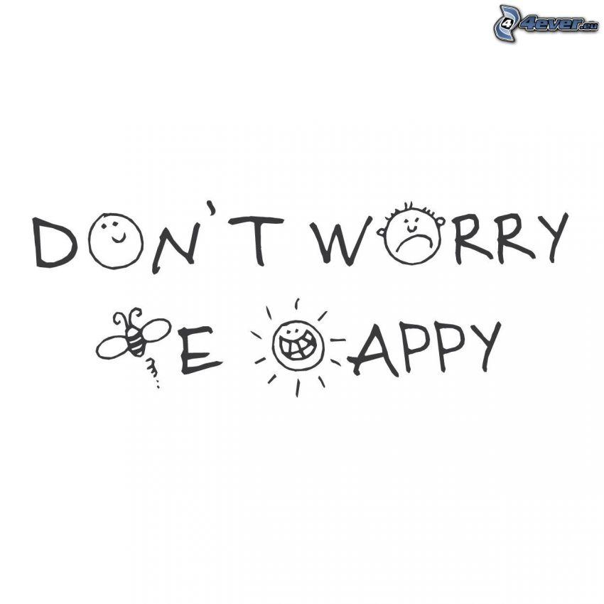 be happy, smileys, abeja
