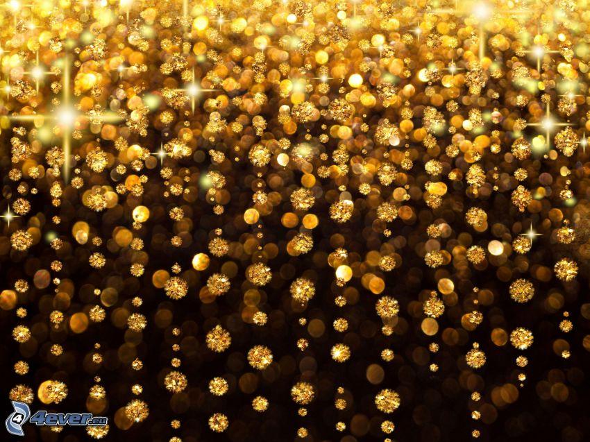 bolas de oro, círculos