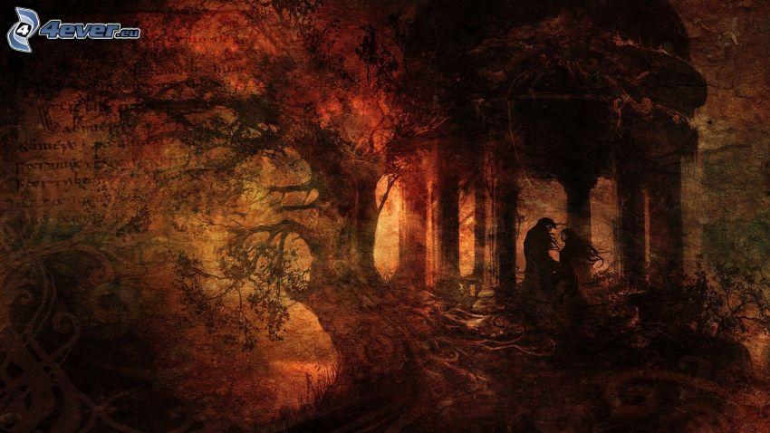 bosque, personas
