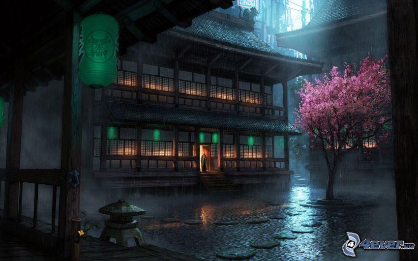 casa Japonés, plaza