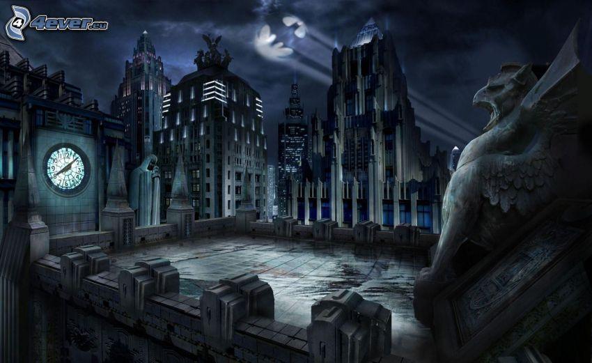 casas, noche