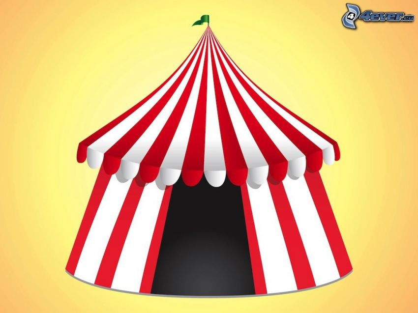 circo, tienda de campaña
