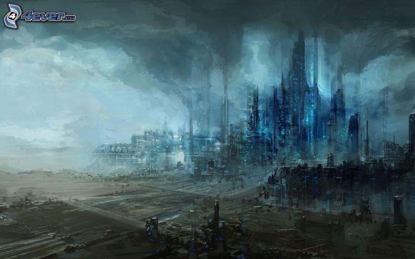 ciudad ciencia ficción, fantasía