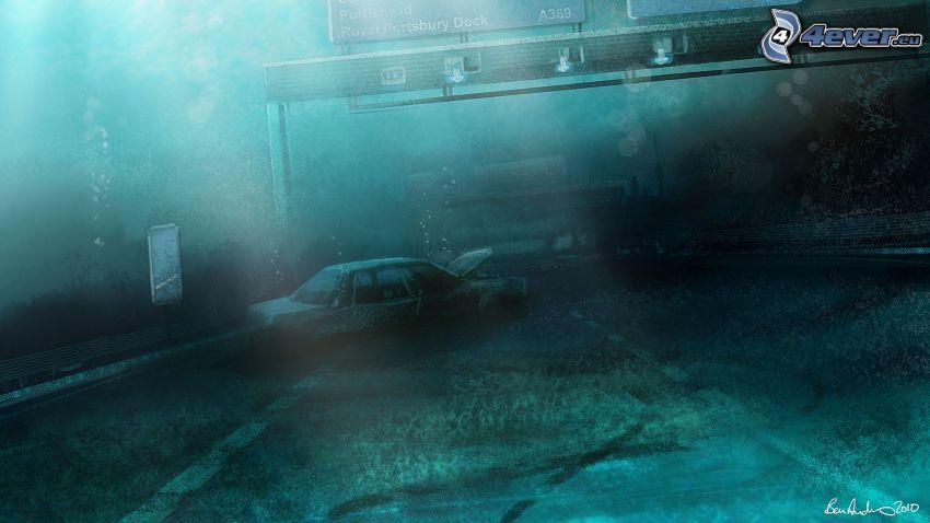 coche, carretera