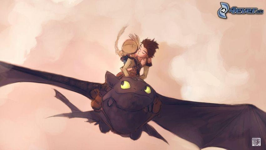 Cómo entrenar a tu dragón, beso