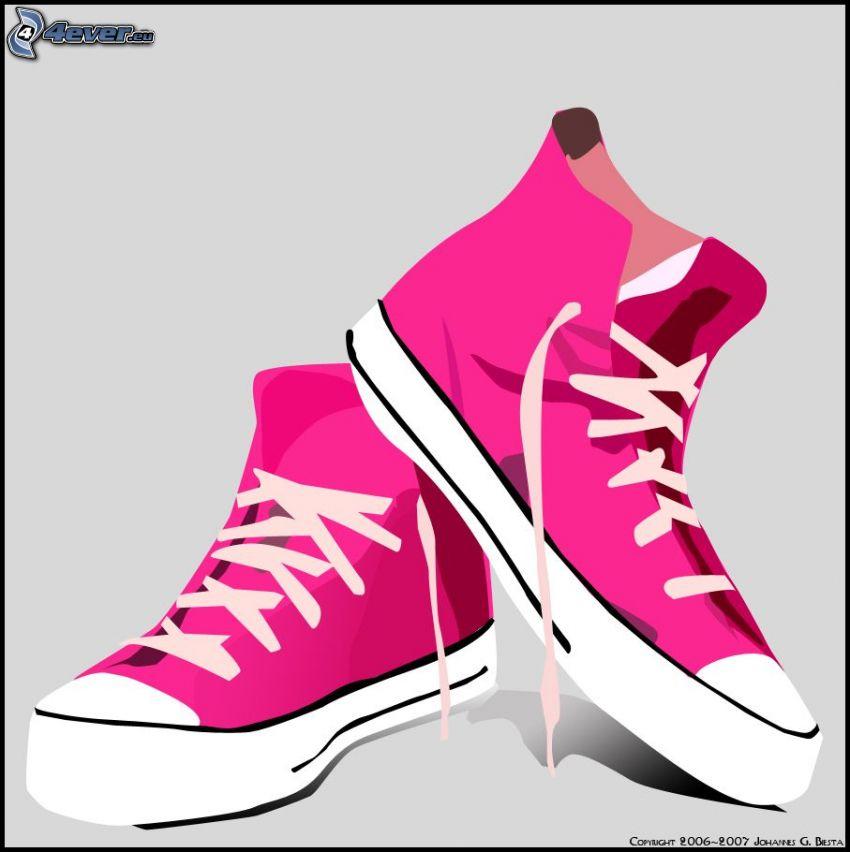 Converse, zapatillas de color rosa