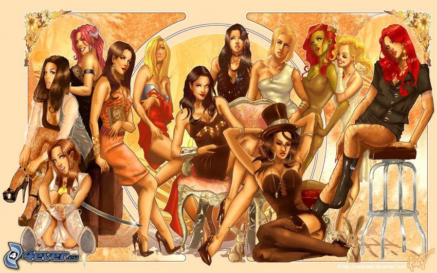 DC Women, mujeres de dibujos animados