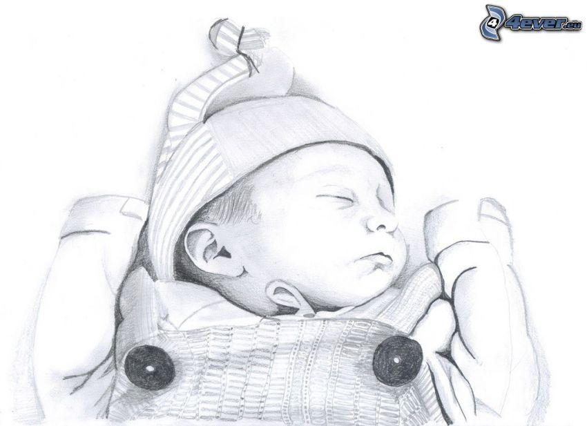 dibujos animados de bebé, bebé durmiendo