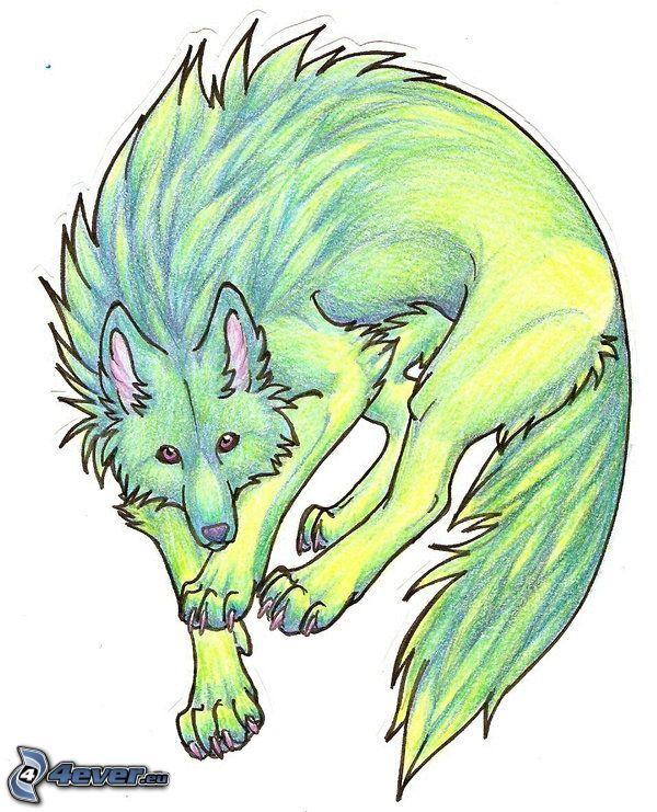 lobo en dibujos animados