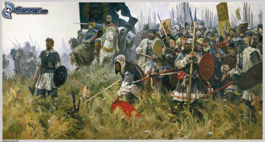 luchadores, pintura