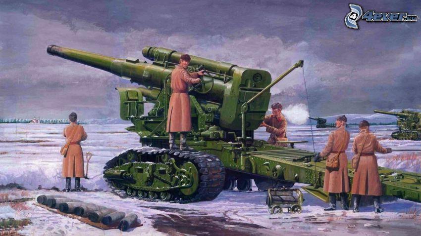 soldados, tanque