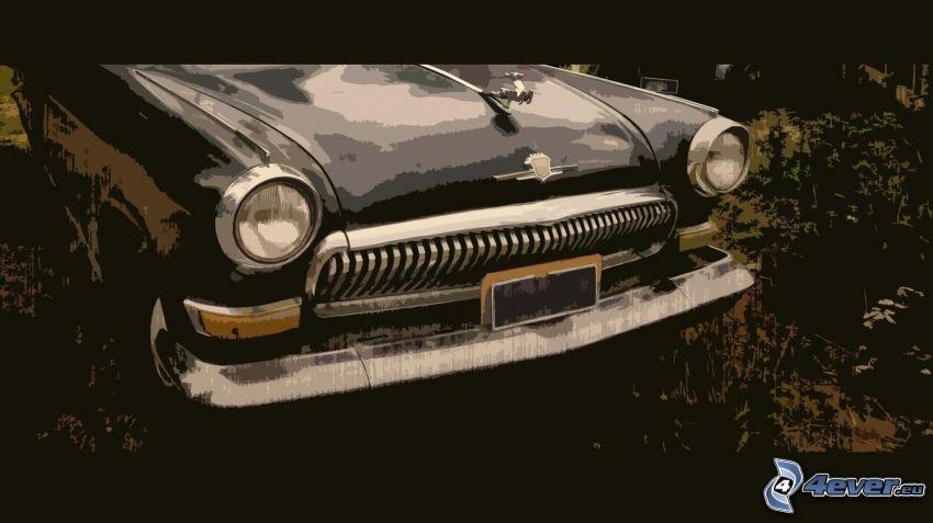 dibujos animados de coche, veterano