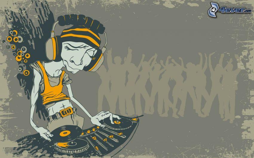 DJ, Personaje de dibujos animados