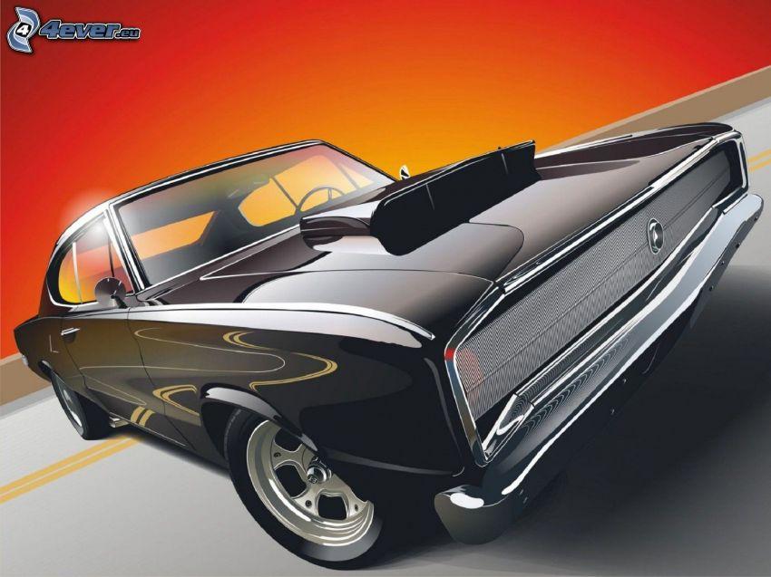 Dodge Charger, dibujos animados de coche