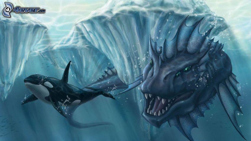 dragón, orque