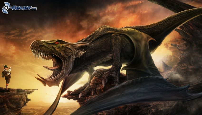 dragón de la historieta