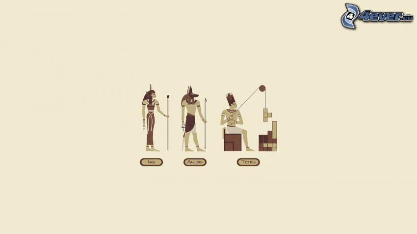 Egipto, tetris, esfinge