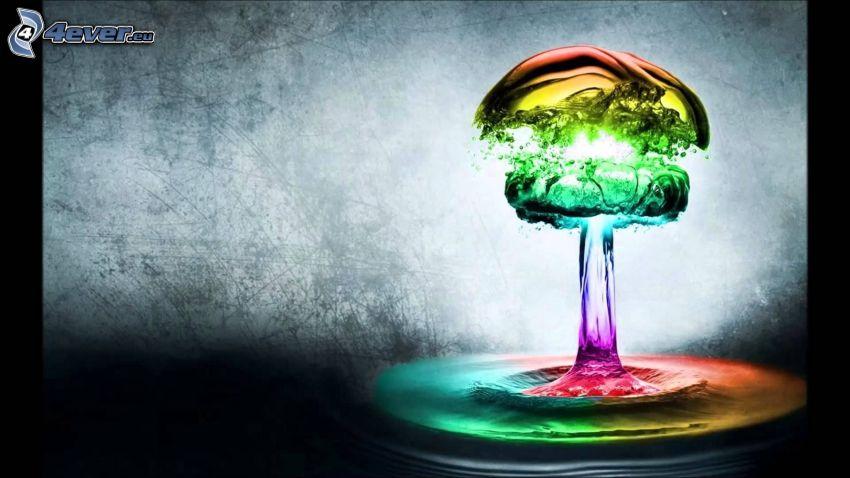 agua, colores