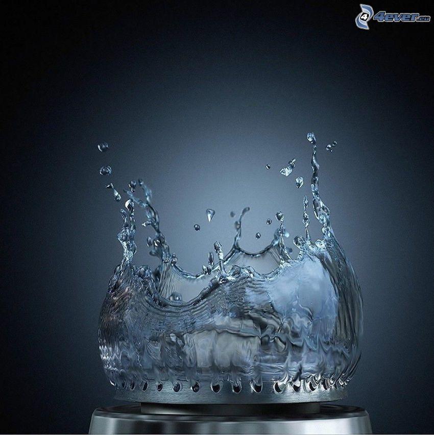 agua, llama