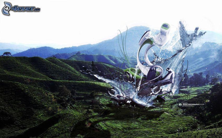 arte digital, colina