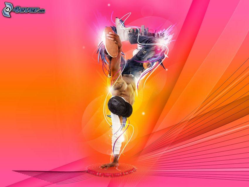 bailarín, breakdance, DJ