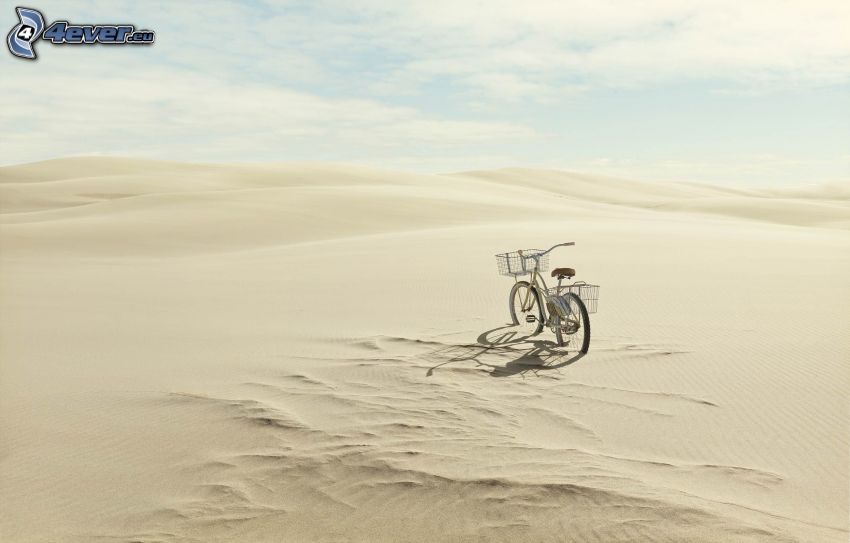 bicicleta, desierto