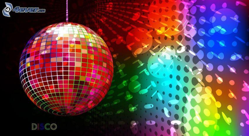 bola de discoteca, colores