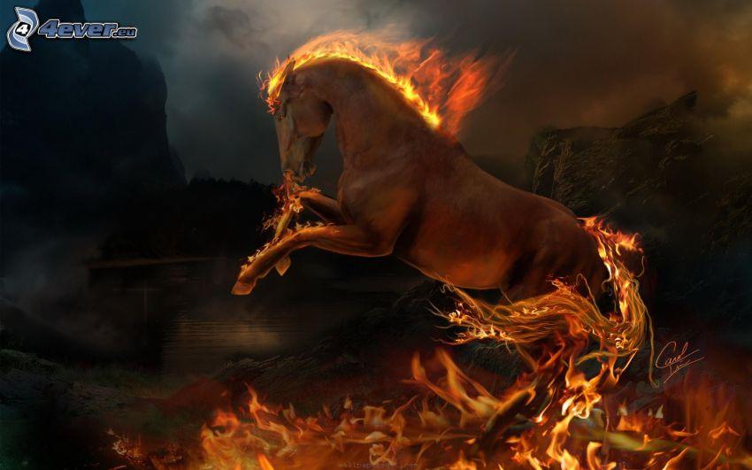 caballo en fuego