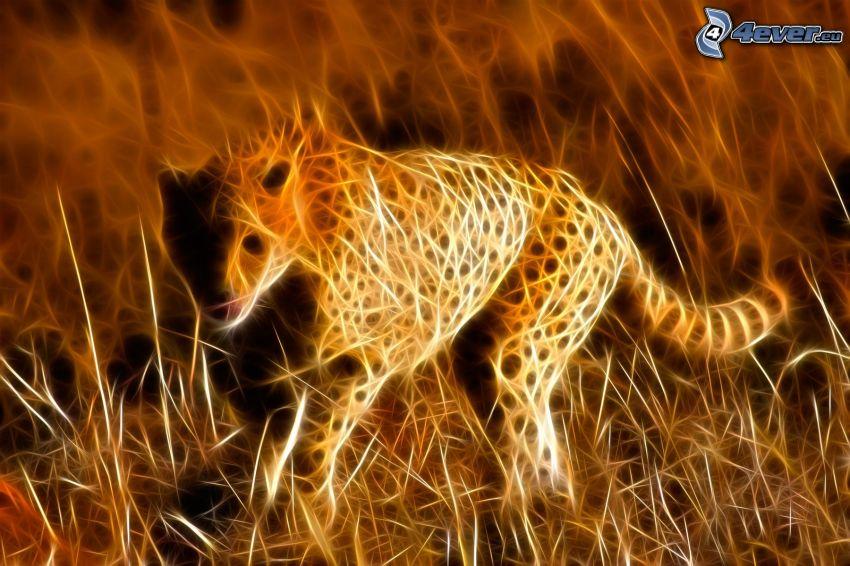 Cheetah Fractal, animales de Fractal