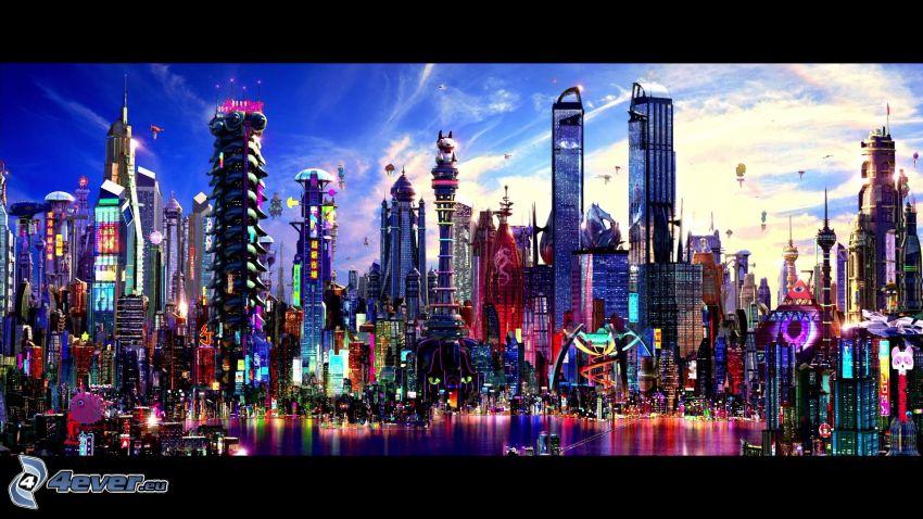ciudad ciencia ficción