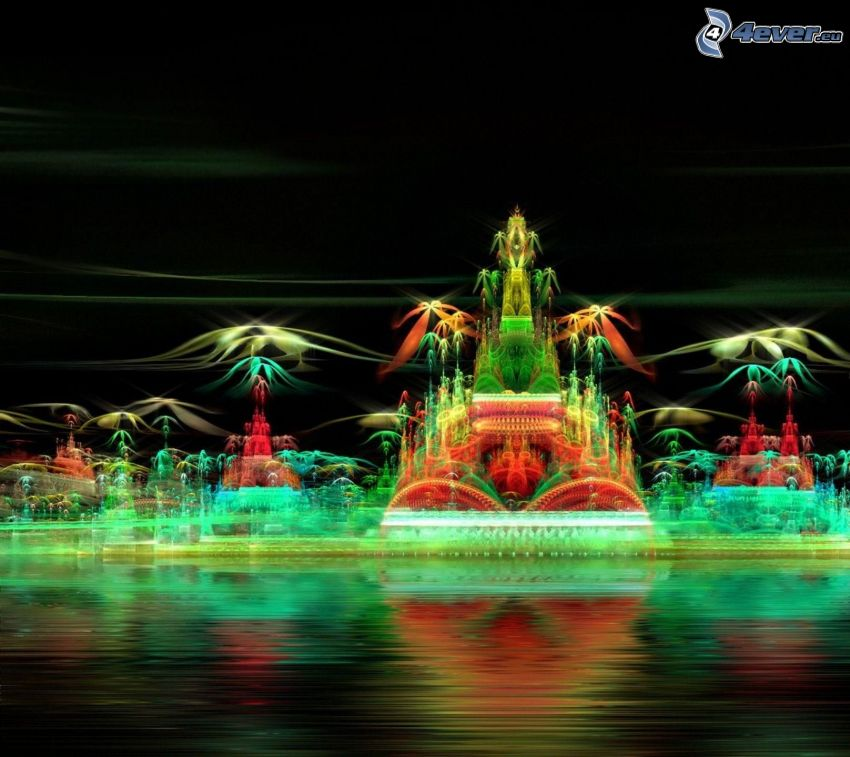 ciudad de noche, juego de luz