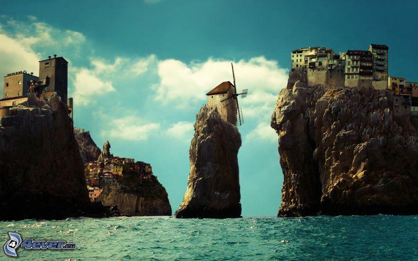 ciudad en las rocas