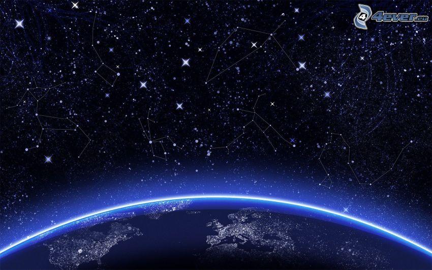 constelación, Tierra