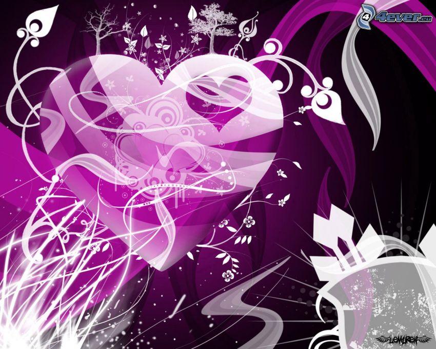 corazón púrpura