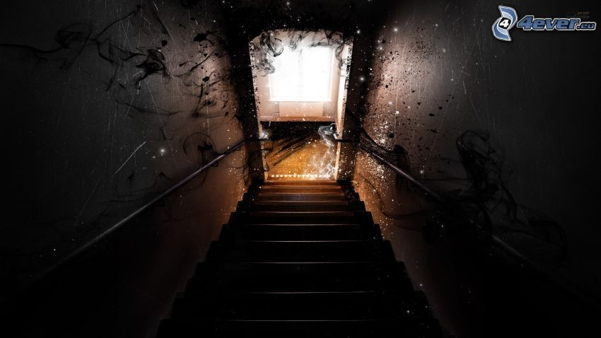 corredor, escalera