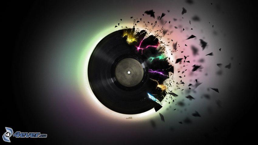 disco de vinilo, colores