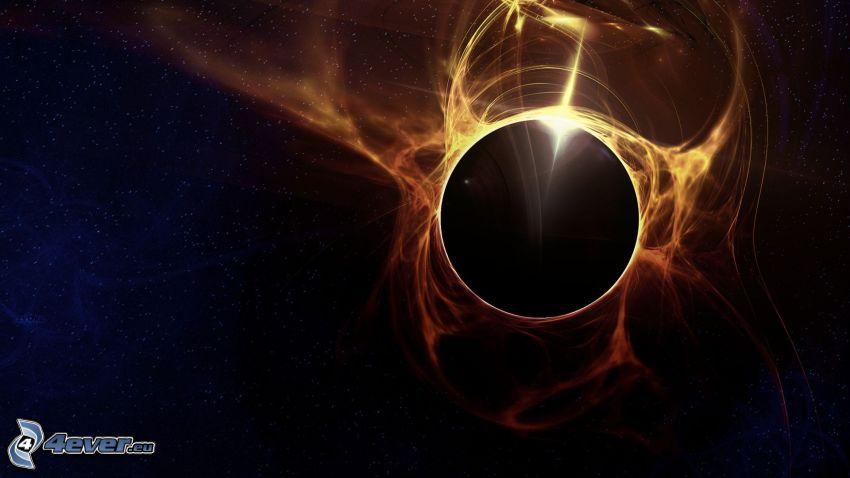 eclipse, cielo estrellado