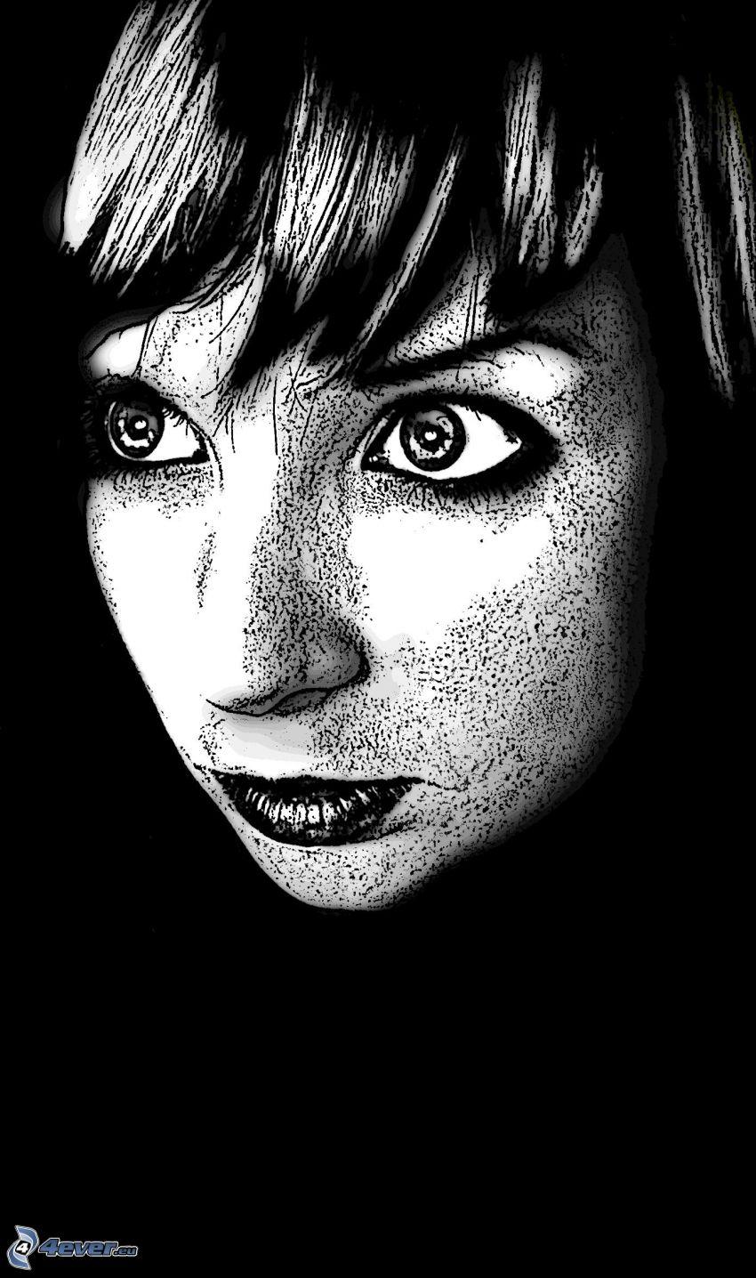 el rostro de mujer, chica, porcelana