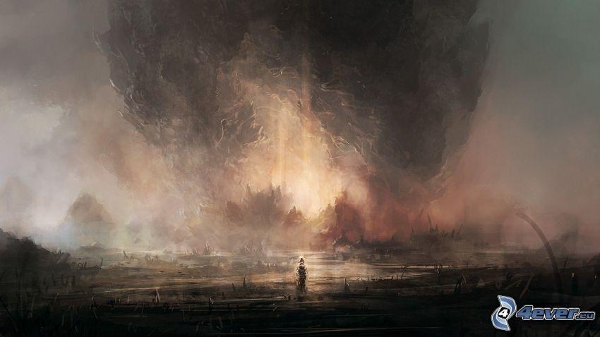 explosión, dibujo