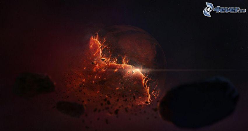 explosión espacial
