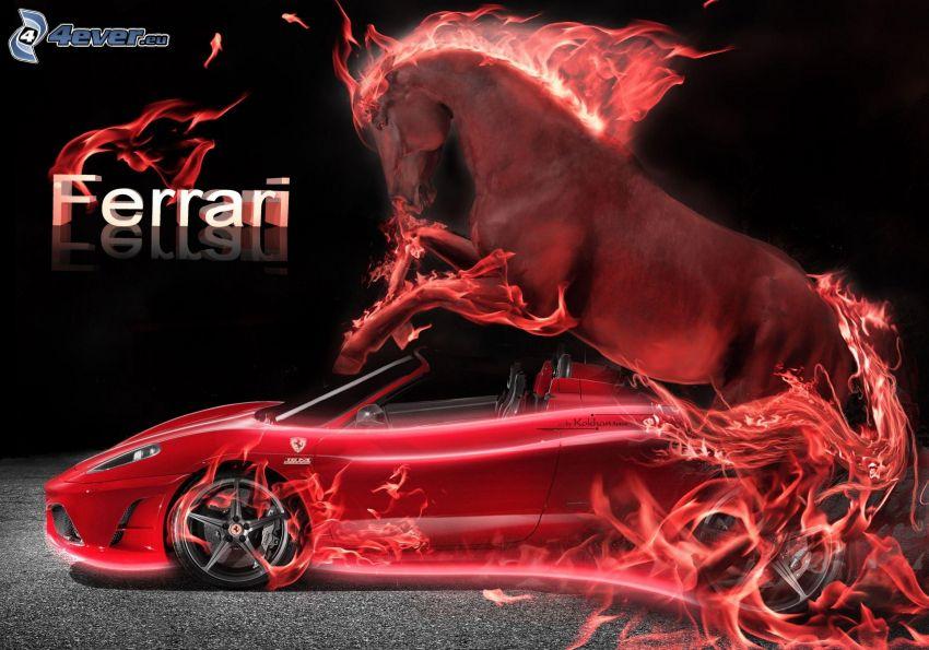Ferrari, caballo en fuego