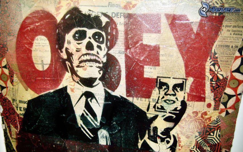 hombre, cráneo