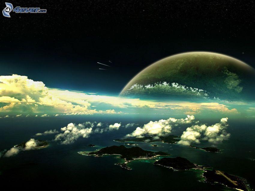 islas, Tierra, mes