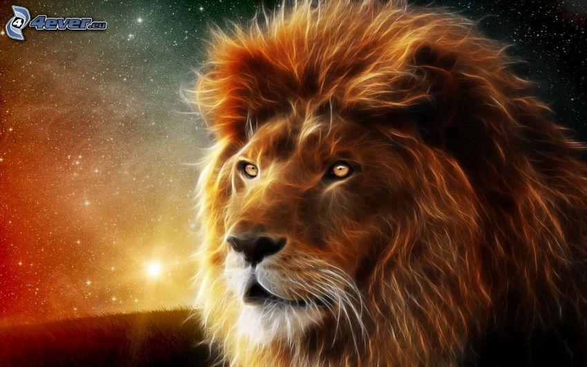 león fractal
