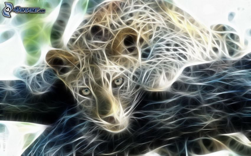 leopardo fractal, rama
