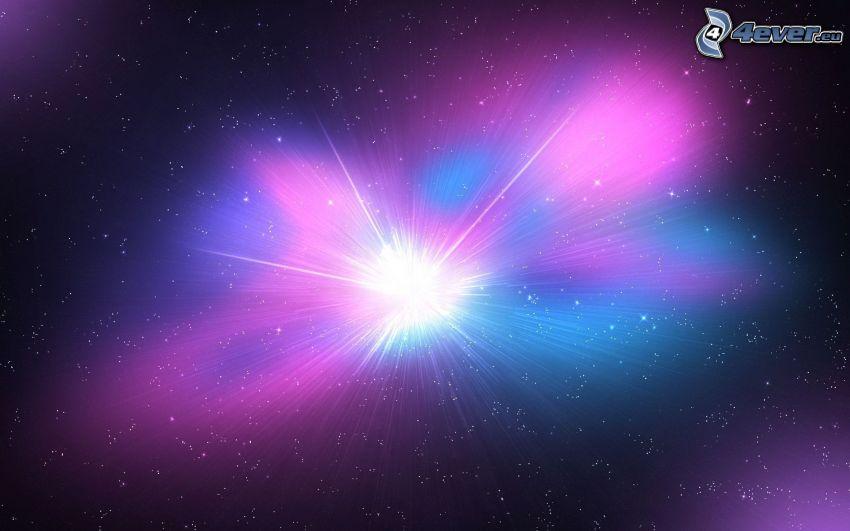 luz, estrellas